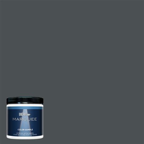 behr marquee 8 oz 770f 6 evening hush satin enamel interior exterior paint and primer in one