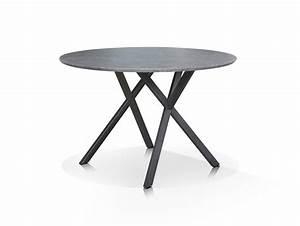 Esstisch 120 Cm : julian esstisch rund 120 cm gestell schwarz beton ~ Orissabook.com Haus und Dekorationen