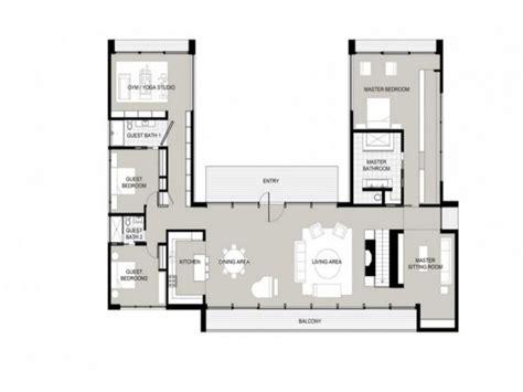 U Shaped Home Designs : U-shaped One Story House U Shaped House Plans, Garden Home