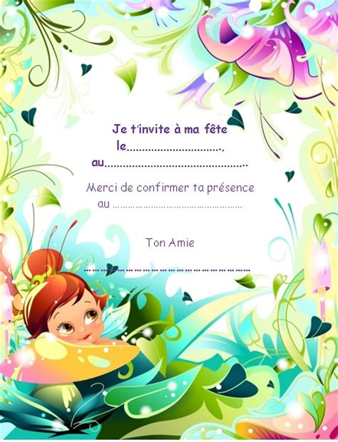 Carte Invitation Anniversaire Fille Invitations Anniversaire Fille