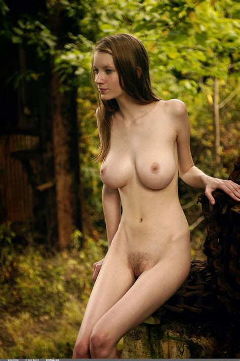 Skinny Pale Hairy Babe Mandi Collins With Big Tits From