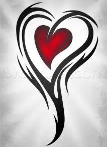 How to Draw Heart Tattoo