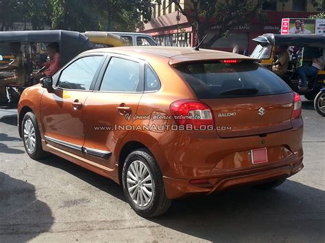 Modified New Baleno 2015 by Maruti Baleno With Optional Bodykit And Ciaz Rims Spied