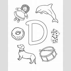 D Is For  Worksheet Educationcom