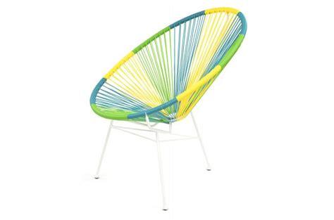 chaise acapulco pas cher fauteuil la chaise longue tropical multicolore acapulco