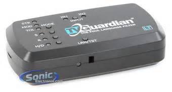 tv guardian tvg lt language filter  remote control