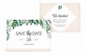 Save The Date Karte : save the date karte greenery ~ A.2002-acura-tl-radio.info Haus und Dekorationen