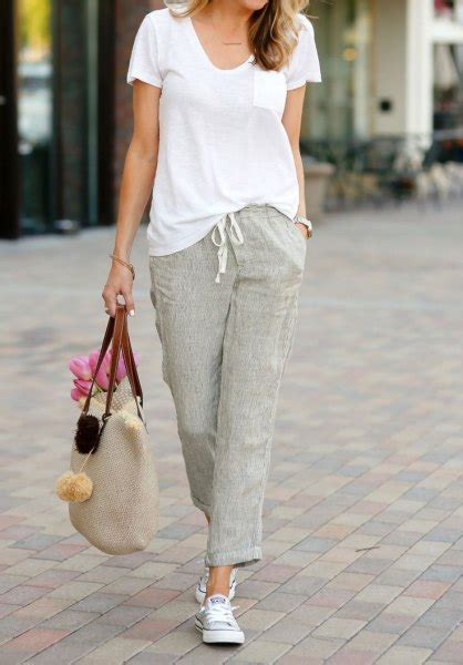 15 Best Outfit Ideas How to Wear Linen Pants for Women - FMag.com