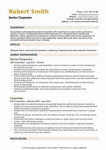 Samples Of Skills And Abilities For Resume Carpenter Resume Samples Qwikresume