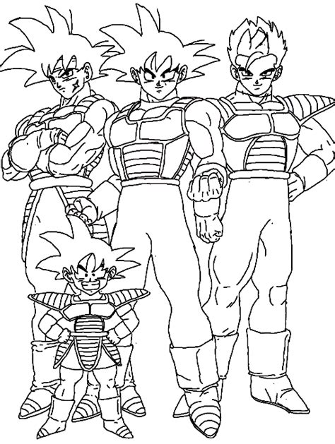 colors  goku family coloring page  wildsonic