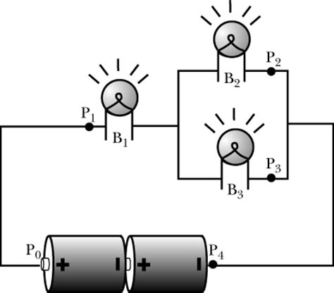 three identical light bulbs are connected to two b