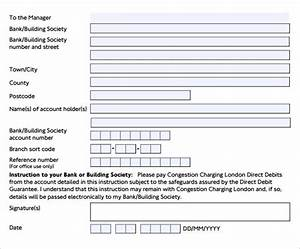 free printable rental application form word 10 direct debit forms to download sample templates
