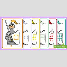 * New * Number Shape Knights To 10 Posters  Castles And Knights Maths