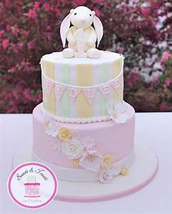 A vintage bunny cake for a first birthday #somebunnyisone ...