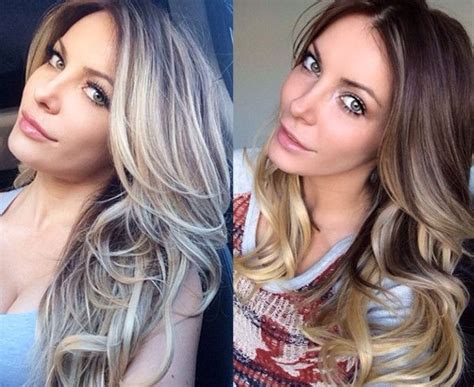 hair color dark to light crystal harris dyes hair from dark to light blond at the