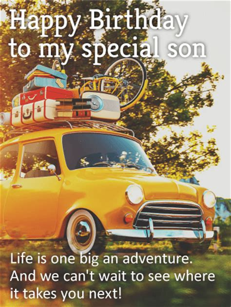 special son happy birthday card birthday