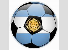 Argentina Flag With Soccer Ball Background stock photos
