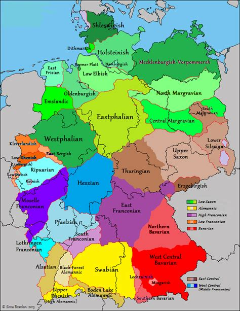 german dialects  germany france  belgium maps