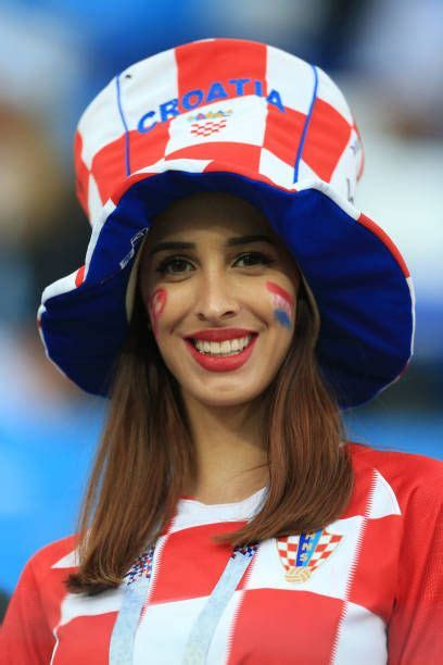 Female Croatian Fan Large Hat During The Fifa