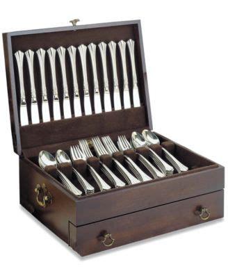 reed barton bristol  drawer flatware chest macyscom flatware chest silverware storage