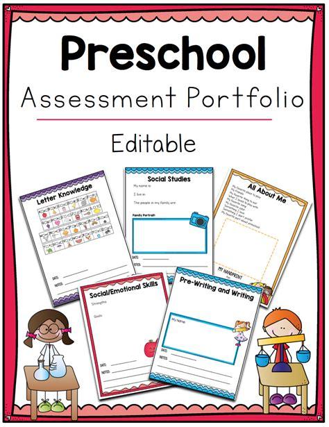 printable back to school preschool mega bundle with 847   Preschool Assessment Portfolio