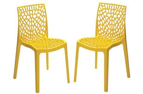 lot de 8 chaises pas cher lot de 2 chaises design jaune perle gruyer opaque chaise