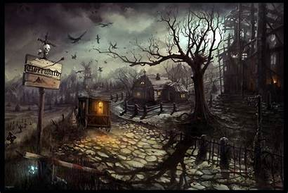 Wallpapers Castle Scary Haunted