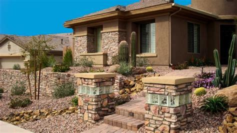 accent glass nc southwestern home exterior in retaining wall 3970