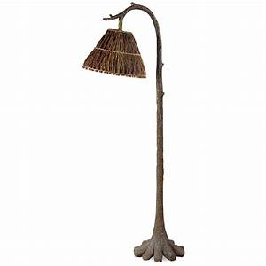 Tree trunk floor lamp for Normande rustic floor lamp