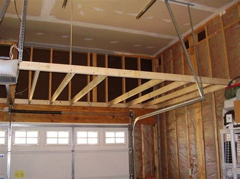 garage storage loft   support building