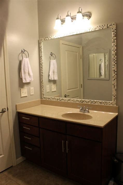 diy bathroom mirror ideas best 25 tile mirror frames ideas on tile