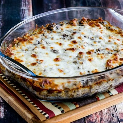 155+ easy dinner recipes for busy weeknights. Low-Carb Ground Beef Stroganoff Casserole (Video) - Kalyn ...