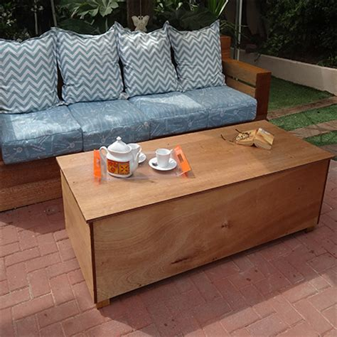patio coffee table with storage home dzine garden outdoor storage coffee table