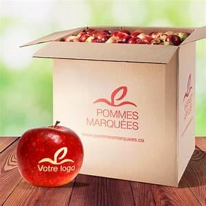 Caisse De Pomme : caisse de pommes avec message au p doncule pommes marqu es ~ Teatrodelosmanantiales.com Idées de Décoration