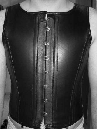 herren lederkorsett von leather maniacs leather maniacs