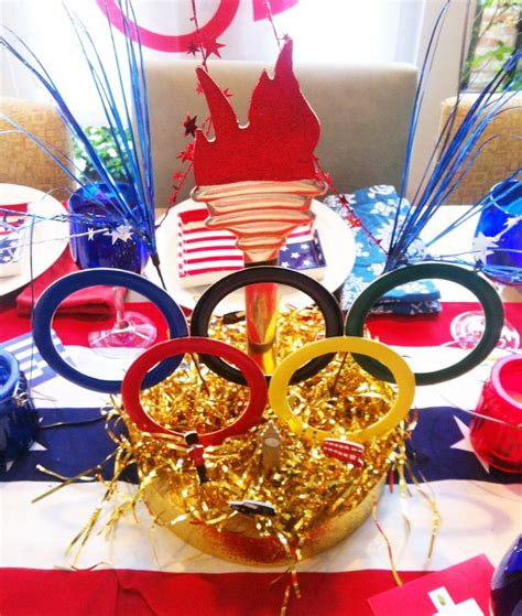 images  olympic theme centerpieces