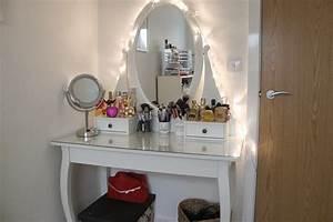 Makeup, Vanity, Table, With, Lights, U2013, Homesfeed