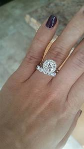 Thin engagement ring thick wedding band weddingbee for Thick engagement ring thin wedding band