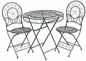 Gartenmöbel Tisch Metall : jugendstil gartenm bel set tisch mit 2 st hlen hellgraues metall kaufen bei demotex gmbh ~ Markanthonyermac.com Haus und Dekorationen