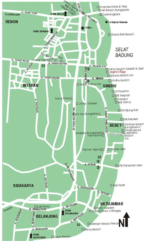 sanur map bali tourism map   people  planning