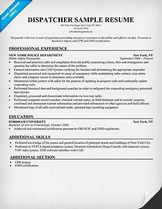 More dispatcher resume templates for Transportation dispatcher resume examples
