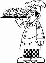Panadero Colorear Boulangers Baker Patissiers Dibujo Coloriage Coloriages Coloring Jobs Boulanger Dessin Colorier Boulangerie Ocupaciones Patisserie Imprimer Printable Drawing Dibujos sketch template