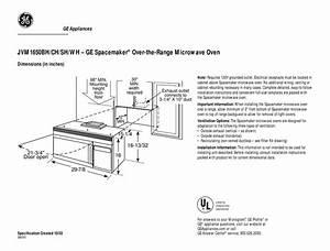 Ge Spacemaker Jvm1650bh Dimension Manual Pdf Download