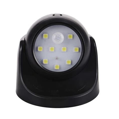 battery operated motion sensor light 9 led battery power sconce wireless light operated motion