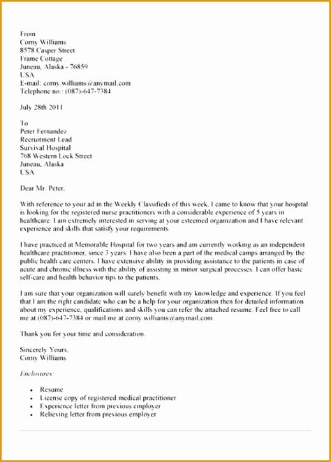 7 free practitioner cover letter sle free