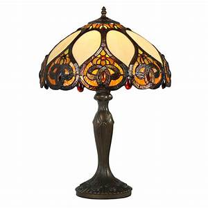 traditional 60cm high trinity table lamp light tiffany With lamp table 60cm high