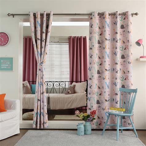 Best Curtain Panels by Best Home Fashion Inc Alphabet Printed Room Darkening
