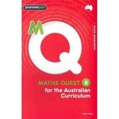 maths booktopia australian curriculum quest homework