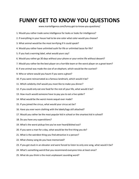 109 Funny Get To Know You Questions To Ask People