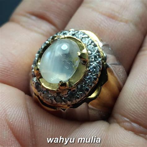batu cincin white silky safir ceylon asli kode